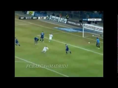 Argentina vs Suiza 3-1 Amistoso 2012 Goles de Messi hat trick  29/02/12