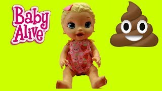 COUNTING AND LEARNING COLORS WITH -Pooping Baby Alive Snacking Lilly - Beanie Boo Muffin