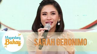 Sarah becomes emotional as she says her wish for her family | Magandang Buhay