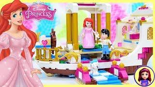 Lego Disney Princess Ariel's Royal Celebration Boat Build Silly Play