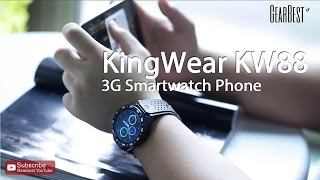 Gearbest Review: KingWear KW88 3G Smartwatch Phone - Gearbest.com