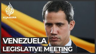 Venezuela government backers block legislative meeting