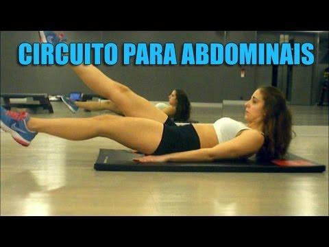 Circuito de treino para os abdominais