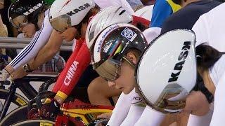 Women's Keirin Final - 2014 Track Cycling World Cup | London
