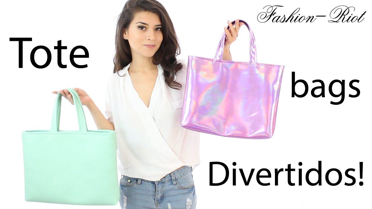 Diy haz un bolso para el regreso a clases tote bag - Fundas para bolsos ...