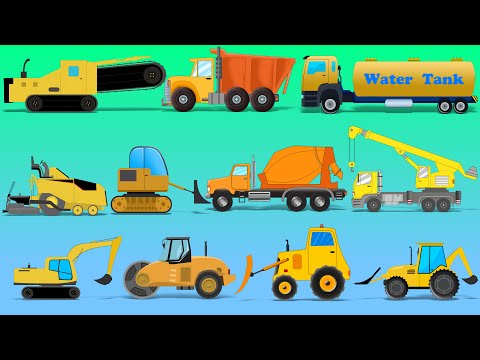 learn Construction Vehicles | Street Vehicles | Trucks And Heavy Vehicles For Kids