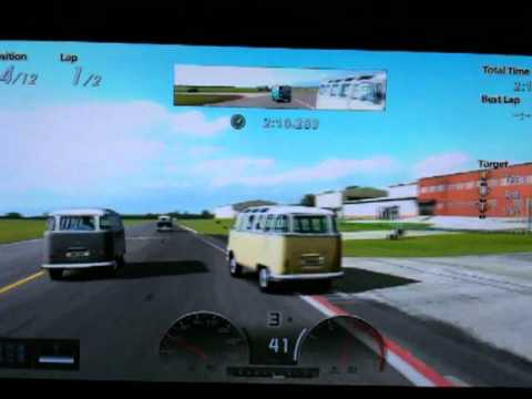Gran Turismo gt5 Top Gear Track Gold by half a lap VW Samba