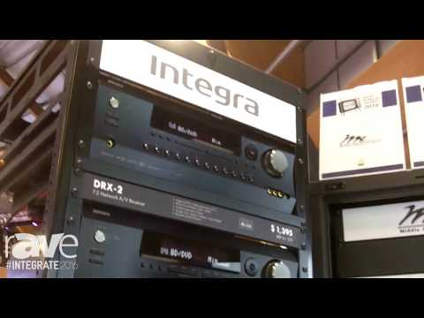 Integrate 2016: Integra Features AV Receivers on the Amber Technology Stand