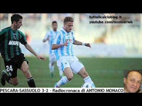 PESCARA-SASSUOLO 3-2 di Antonio Monaco (3/3/2012) Radiocronaca da Radio 1 RAI