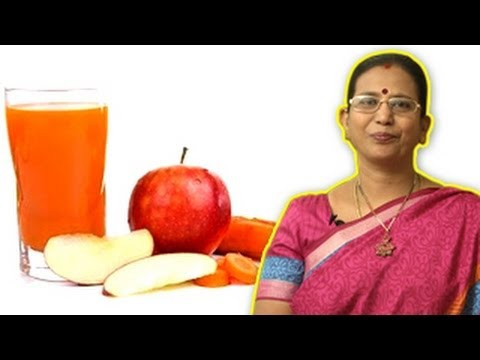 Apple Carrot Juice - Health Drink During Pregnancy | Mallika Badrinath Recipes