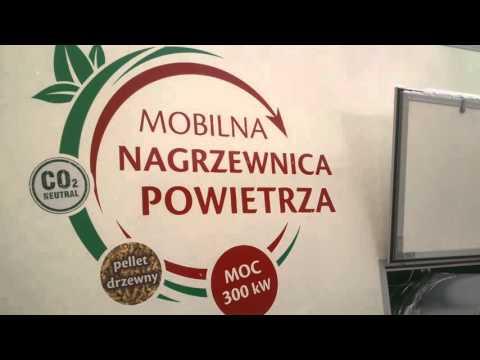 Nagrzewnica mobilna na pellety AKRON 300 kW w akcji