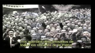 Discurso de Eva Duarte en la primera transmisión de Televisión argentina