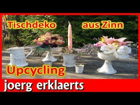 Perfekte Deko aus altem Zinn Hochzeit Tischdeko Geburtstag Upcycling Tutorial Nr 216