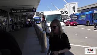 Kirsten dunst and jesse plemons departing at lax airport in los angeles mp4 HD