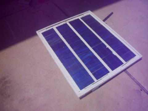 DIY 75 watt SOLAR PANEL FRAMING AND TESTING GRID TIE INVERTER.