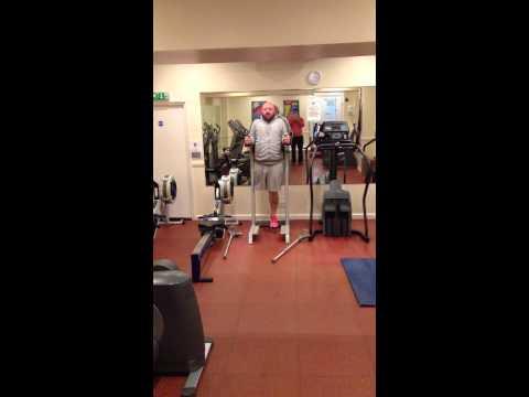 Shaun-single leg amputee fitness circuit workout