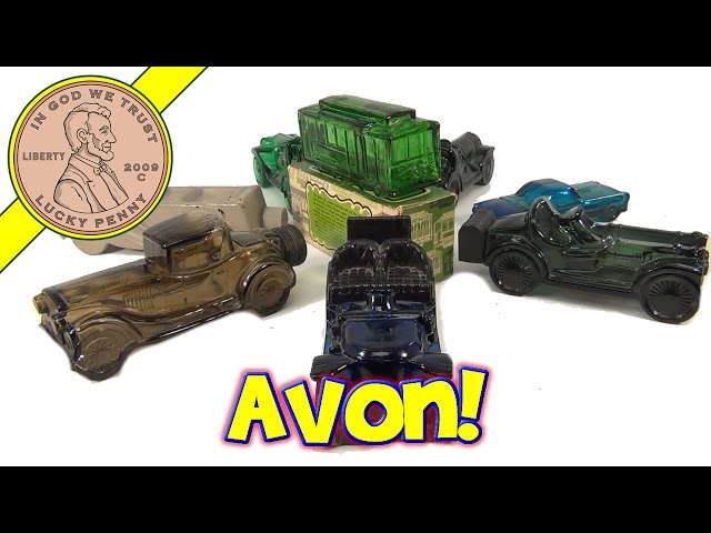 Avon Cosmetics Antique Collectible Glass Antique Cars Cologne Bottles Collection