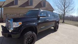 West TN 2017 Toyota Tundra Limited crew max 4x4 lifted custom price www sunsetmotors com