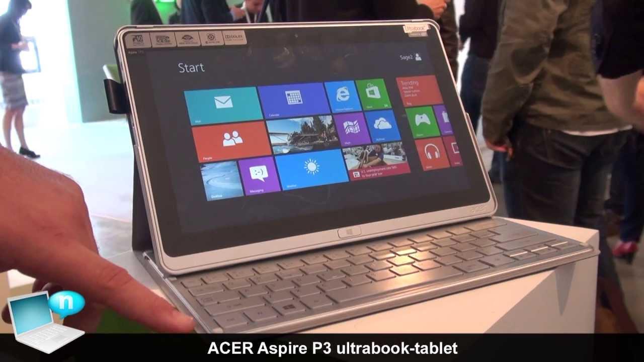 Acer Aspire p3 Ultrabook Acer Aspire p3