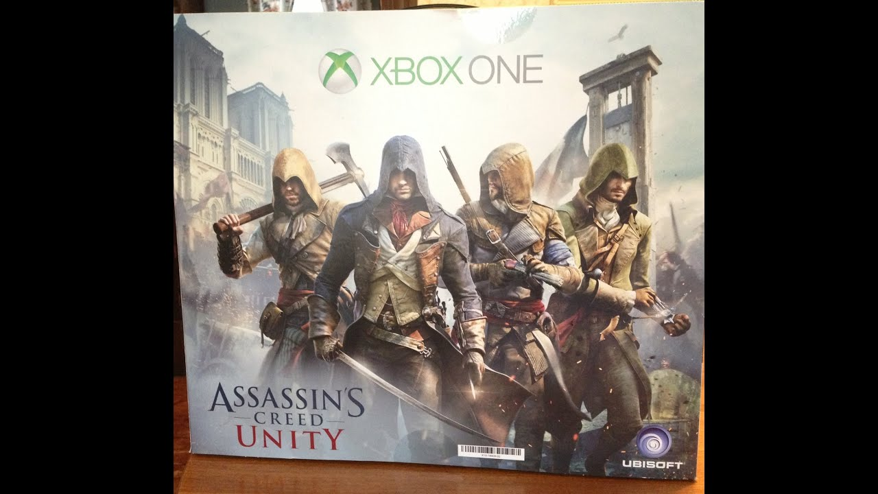 Xbox one assassins creed unity bundle unboxing part