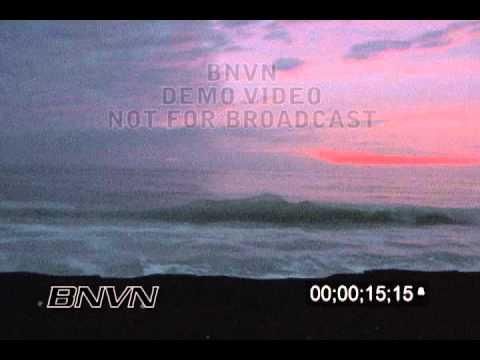 10/22/2005 Sarasota, FL Hurricane Wilma, Sunset along the seawall before the hurricane