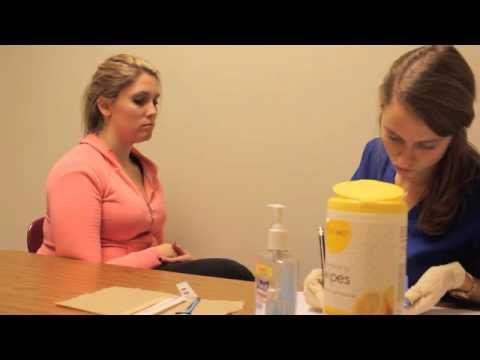 video of an oral facial exam