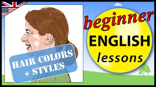 Hair colors and styles in English   Learn English Lessons - Beginner vocabulary