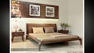Mẫu giường ngủ gỗ óc chó AV-GN 002 đẹp mộng mơ tại Hà Nội