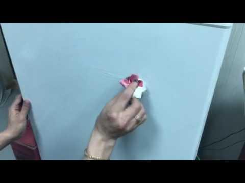 Как отмыть с холодильника фломастеры