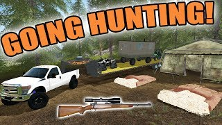 FARMING SIMULATOR 2017/ THE HUNTER | GOING HUNTING! + SHOOTING A RED FOX!