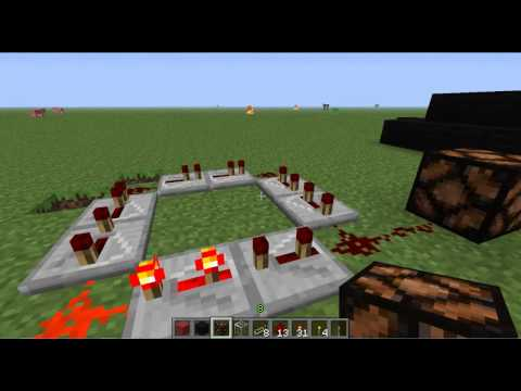 Minecraft 1.3.2 How To Make A Flashing Light/Strobe Light
