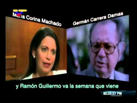 Conversación entre María Corina Machado y Germán Carrera Damas sobre golpe el 17 de abril 2013