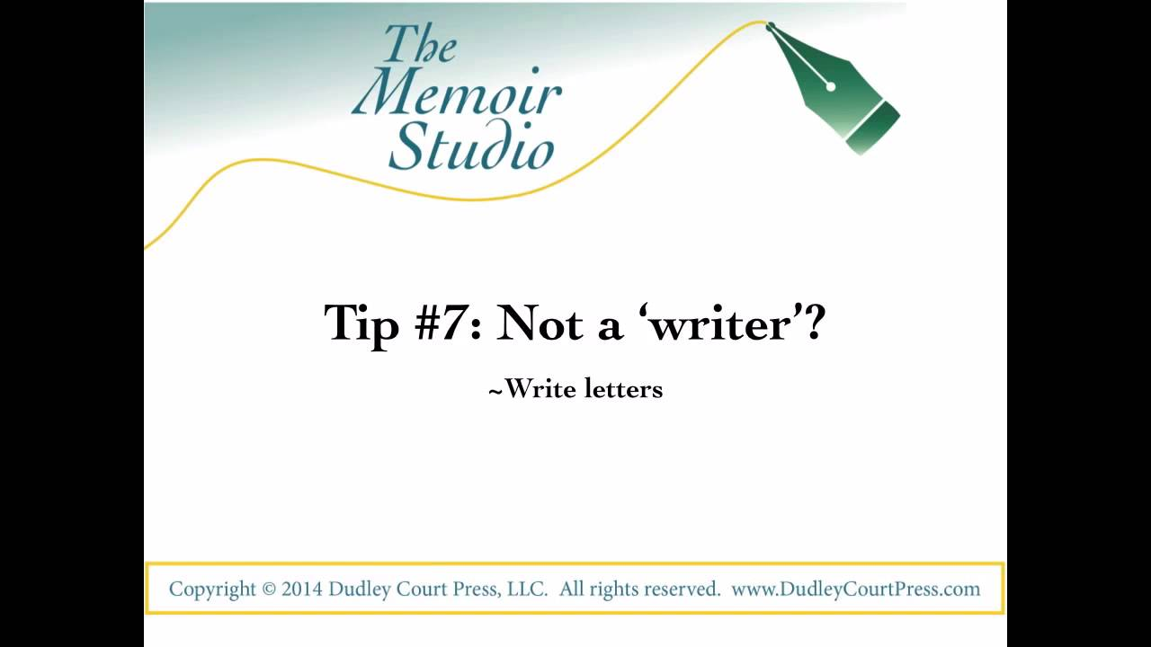 writing memoirs tips When it comes to writing a memoir, there are 4 things you need to focus on if you  do, your powerful  41 writing tips experts wish they'd known as beginners.
