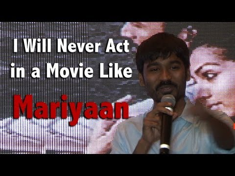 I will never act in a movie like Mariyaan (மரியான் ) - Dhanush @ Mariyaan Press Meet [RED PIX]