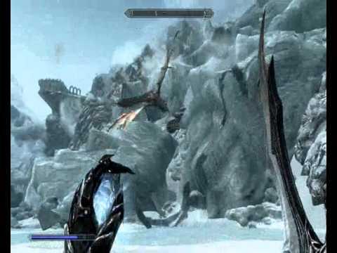 -Skyrim-Como matar 2 Dragões de uma vez
