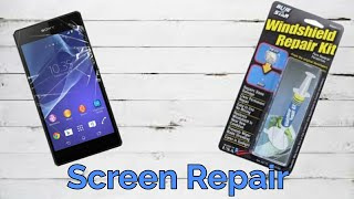 Repair A Phone Screen with a Windshield Repair Kit