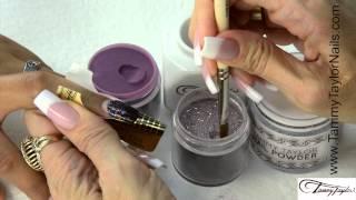 ♡ Tammy Taylor 3 Dazzle Rocks Glitter Acrylic Nail Designs