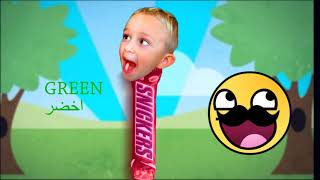 Learn Colors for kids and baby - Vlad and Nikita johny johny - تعليم الوان للاطفال جديد