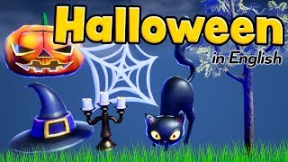 Halloween for kids in English - Vocabulary - Halloween words