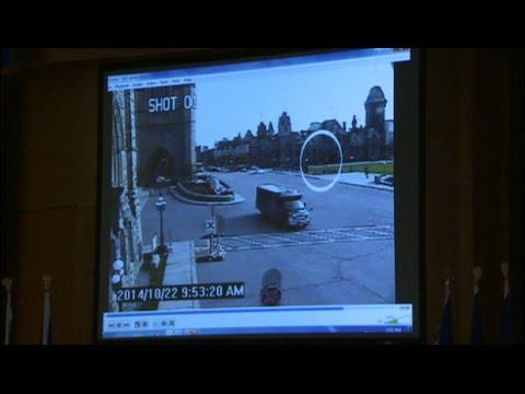 Surveillance video of Ottawa shooting