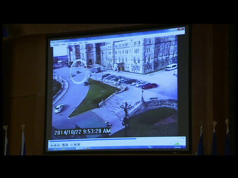 Surveillance video of Ottawa shooting