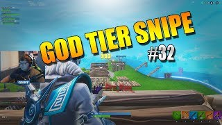 """""""God Tier Snipe"""" Fortnite Highlights and Fails #32"""