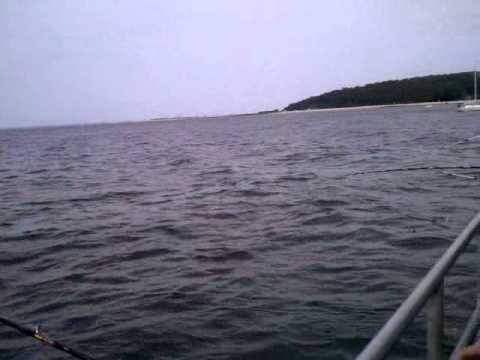 Fishing in Long Island Sound off Eaton's Neck