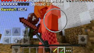 Minecraft pe hunger games #1 (kazandım)