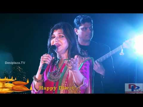 Alka Yagnik Singing Kuch Kuch Hota He Song At DFWICS Diwali Mela 2015 At Dallas