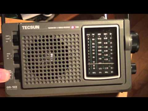 China Radio International 9570 Khz Shortwave on  Tecsun GR168 emergency radio