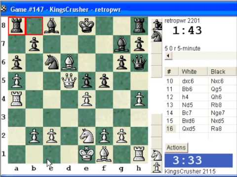 Chessworld.net : Blitz #223 vs. retropwr (2201) - Robatsch (modern) defense (B06) (Chessworld.net)