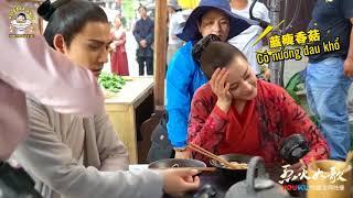 [Vietsub   Hậu trường] Châu Du Dân và Địch Lệ Nhiệt Ba đóng cảnh ăn mì   Liệt Hỏa Như Ca 12.03.2018