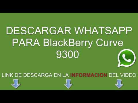 Descargar e instalar whatsapp para BlackBerry Curve 9300 gratis