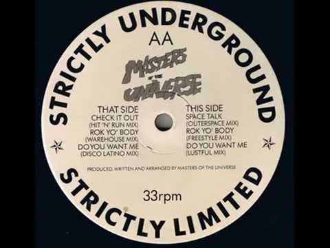 Masters Of The Universe - Rok Yo' Body (Freestyle Mix), Strictly Underground Records 1989